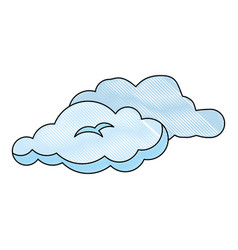 cloud weather draw vector image vector image