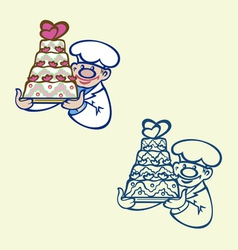 cook with cake vector image