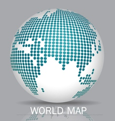 Dotted Globes vector image vector image