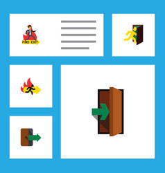 Flat icon emergency set of emergency entrance vector