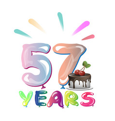 Happy birthday fifty seven 57 year vector