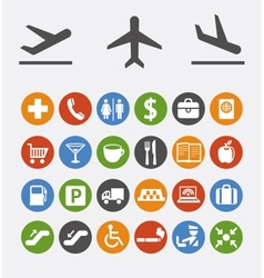 Icons and pointers for navigation in airport vector
