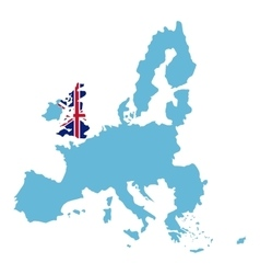 Isolated united kingdom map design vector image