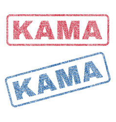 Kama textile stamps vector