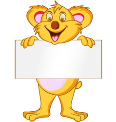 koala with blank sign vector image vector image