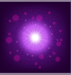light effect on pink background star burst with vector image