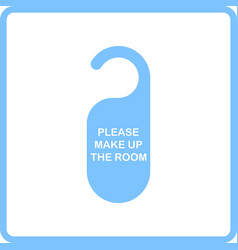 Mke up room tag icon vector