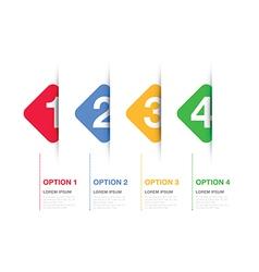 Multi coloured option background square vector