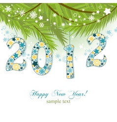 new year 2012 background vector image