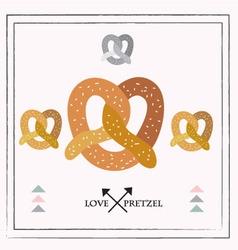 pretzel set vector image vector image