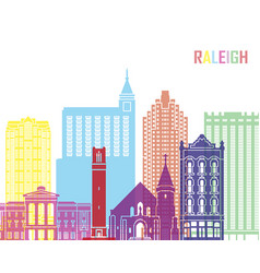 raleigh v2 skyline pop vector image vector image