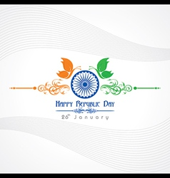 Republic day greeting with butterfly vector