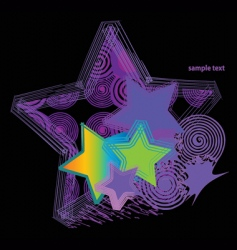 retro stars vector image vector image