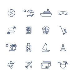 simple icons set for web apps programs and other vector image vector image