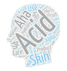 Skin care what are ahas text background wordcloud vector