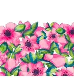 Spring watercolor with colorful flowers of sacura vector