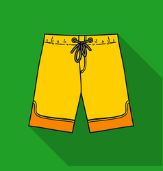 Swimming trunks icon in flate style isolated on vector