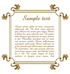 text template with floral frame vector image