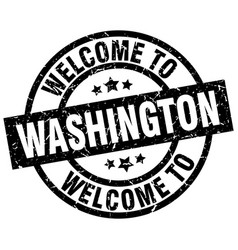 Welcome to washington black stamp vector