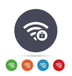 Wifi locked sign pass wi-fi symbol wireless vector