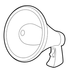 Loudspeaker icon isometric 3d style vector