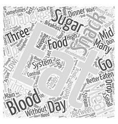 When to eat when you have diabetes word cloud vector