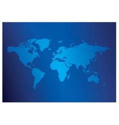 Dark blue background with light blue map world vector