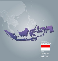 Indonesia information map vector