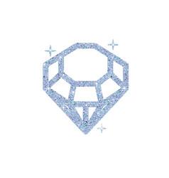 diamond glitter shiny crystal vector image