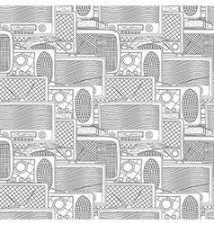 Seamless radio pattern vector