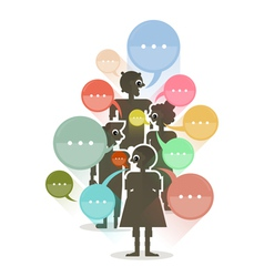 People with colorful dialog speech bubbles vector
