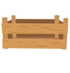 Wooden crate vector