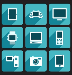 Digital device icons set vector