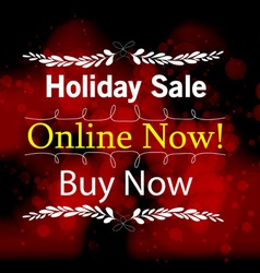 Holiday save online light background vector