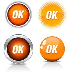 Ok buttons vector