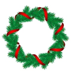 Christmas pine garland vector