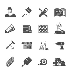 Renovation icons set vector