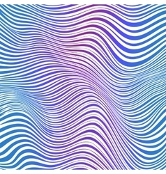 Abstract blue and pink striped waves background vector image