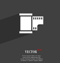35 mm negative films symbol flat modern web design vector