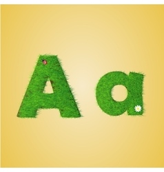 Grass letter alphabet vector