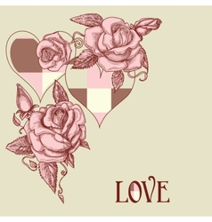 roses and hearts vector image