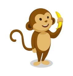 Monkey cartoon minimalistic vector image