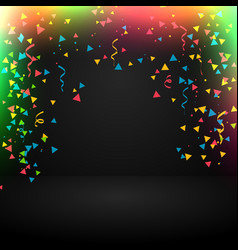 Abstract celebration background with confetti vector