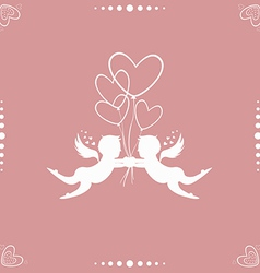 Angels with hearts vector image vector image