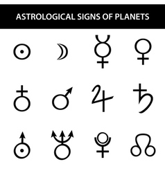 Astrology planets vector