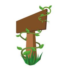 Blank wooden signpost vector