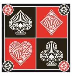 Card symbols vector