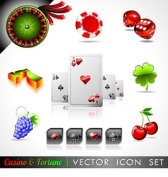 casino and fortune theme vector image vector image
