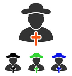Cleric flat icon vector