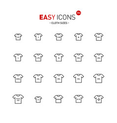 Easy icons 33a cloth size vector